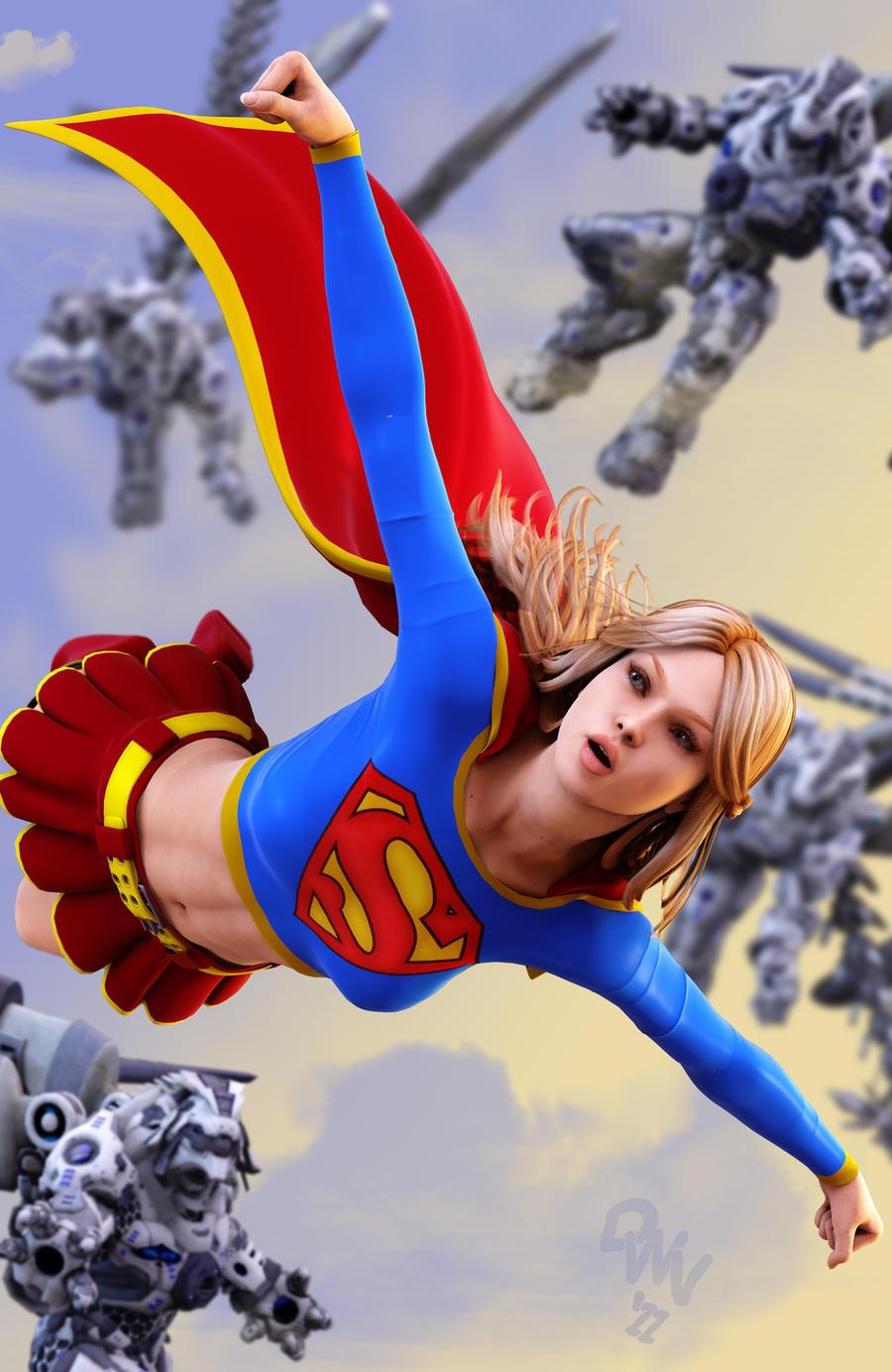 Supergirl 3D by CodenameZeus