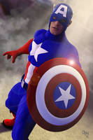 Captain America 3D by CodenameZeus