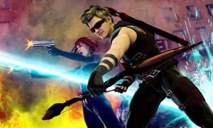 New Hawkeye and Black Widow