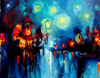 Midnight Harbor XV by sagittariusgallery