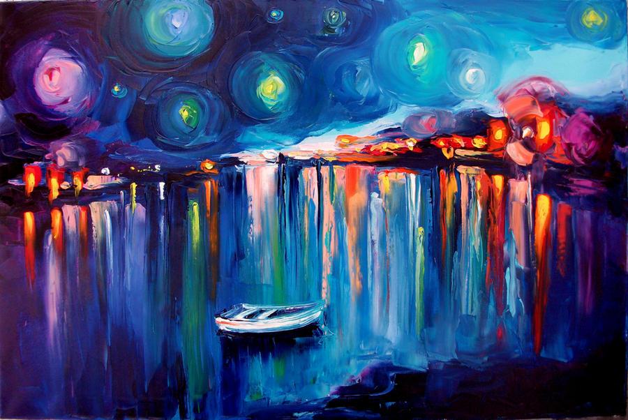 Midnight Harbor XXII by sagittariusgallery