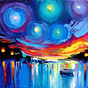 Midnight Harbor XXVII by sagittariusgallery