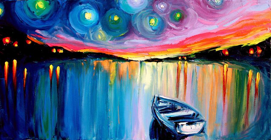 Midnight Harbor XXXIV by sagittariusgallery
