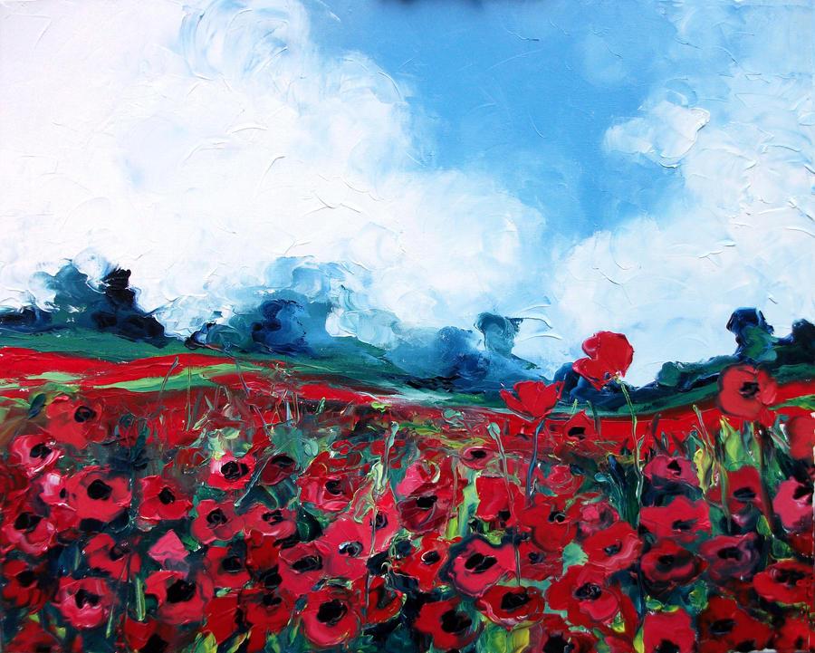 Poppy Field 1 by sagittariusgallery