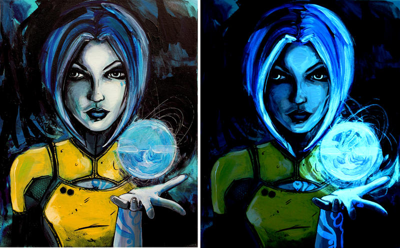 Phaselock in daylight and under blacklight by sagittariusgallery