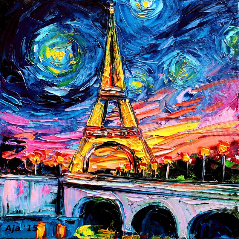 Van Gogh Wallpaper: Van Gogh Never Saw Eiffel By Sagittariusgallery On DeviantArt