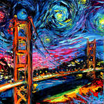 van Gogh Never Saw Golden Gate by Aja