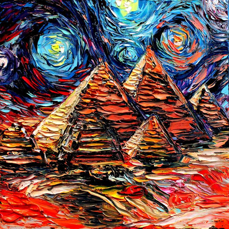 Van Gogh Wallpaper: Van Gogh Never Saw Giza By Sagittariusgallery On DeviantArt