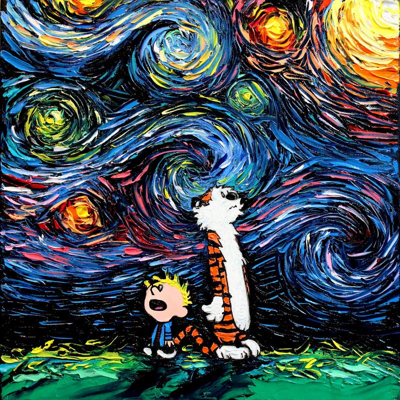 Van Gogh Wallpaper: What If Van Gogh Had An Imaginary Friend? By