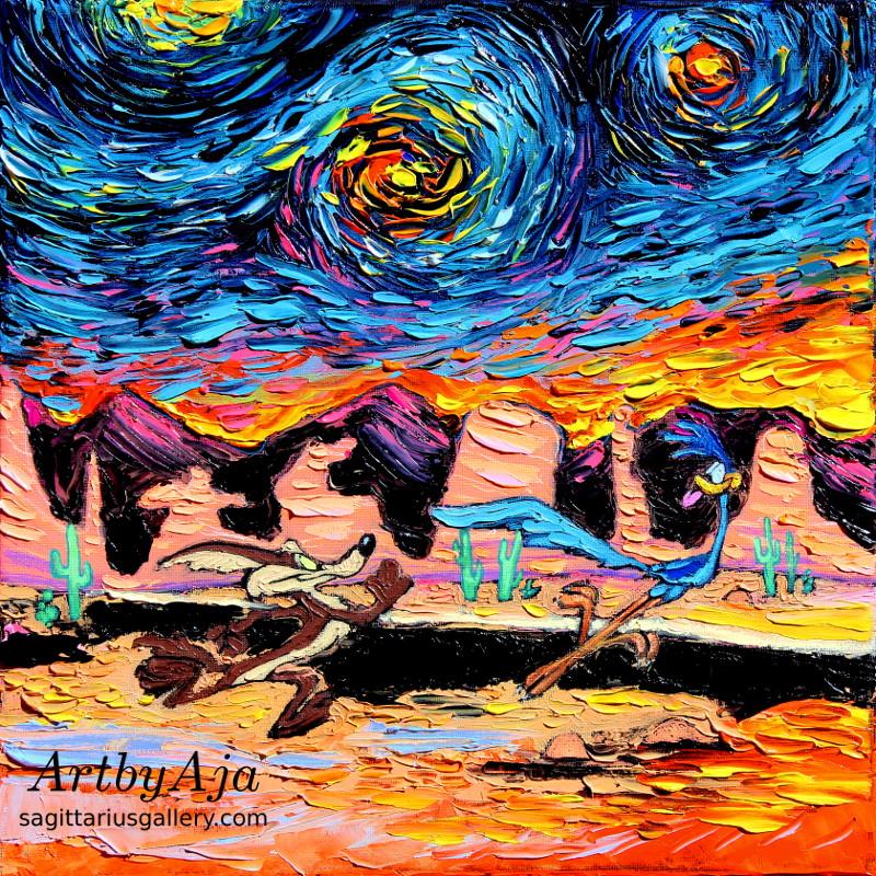 van Gogh Never Caught Road Runner by sagittariusgallery