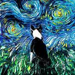 Boston Terrier Night by sagittariusgallery