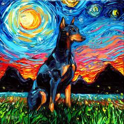 Doberman Night by sagittariusgallery