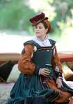 Elizabethan hat by ladyrose04