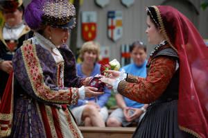 Elizabethan Flower Bag by ladyrose04