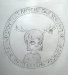 Deer Girl Stamp by Harumii-chama