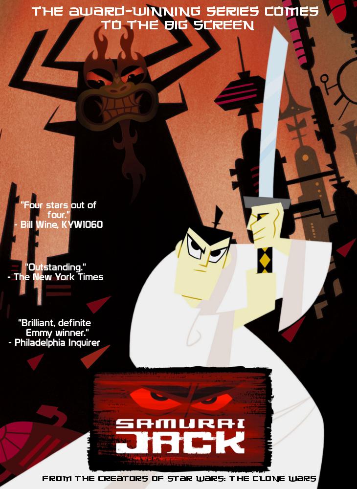 samurai jack movie poster by blziken28 on deviantart