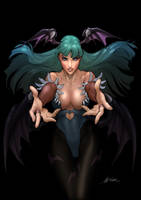 Morrigan Coloring Exercise by digitalgil
