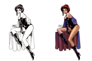 Black Queen: Coloring John Byrne's Jean Grey by digitalgil