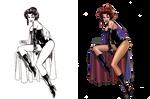Black Queen: Coloring John Byrne's Jean Grey by digitalgil