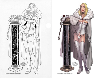 White Queen: Coloring John Byrne's Emma Frost