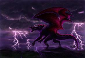stormy night by Luarcis