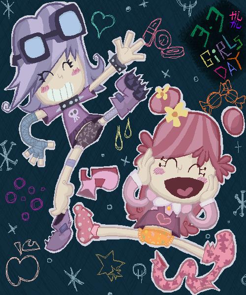 girls day puffy by Gashi-gashi