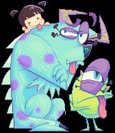 Pixel_monsters inc. by Gashi-gashi