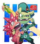 flippy and flaky with nutty