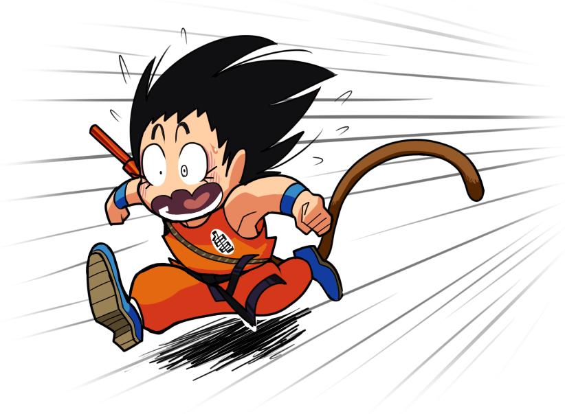 Goku dash by Gashi-gashi