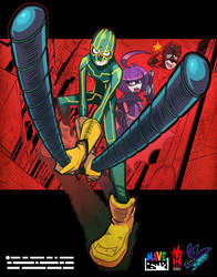 kickass and hitgirl. by Gashi-gashi