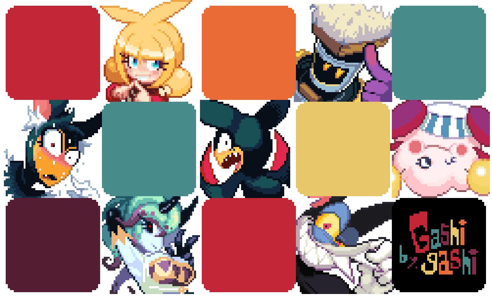 My origimal characters pixel. by Gashi-gashi