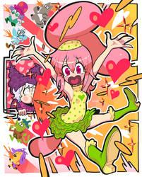 Humanized panini and chowder. by Gashi-gashi