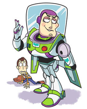 Buzz and Woody doodle.