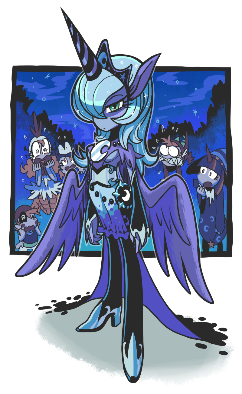 Humanized Princess Luna. by Gashi-gashi
