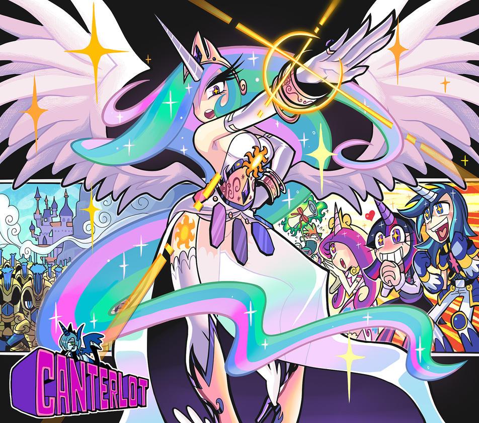 Humanized Princess Celestia and more. by Gashi-gashi