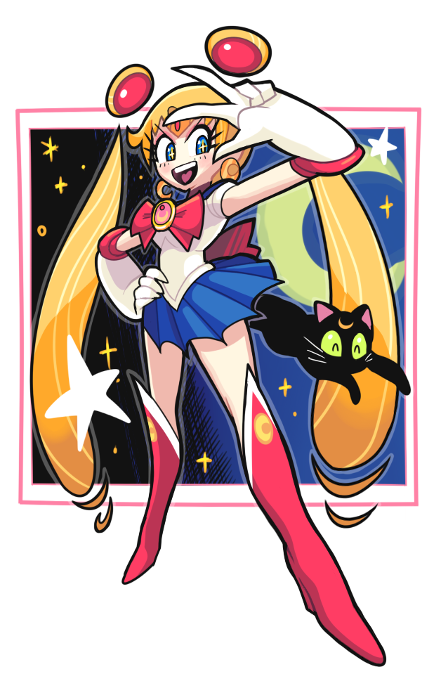 Sailor moon doodle by Gashi-gashi