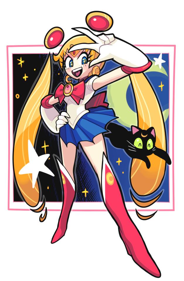 Sailor moon doodle by Gashi-gashi