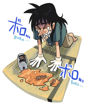 Kaiji lost beer and chicken