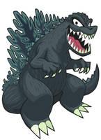 Kaijuou Godzilla by Gashi-gashi