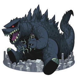 King of the Monster Godzilla by Gashi-gashi