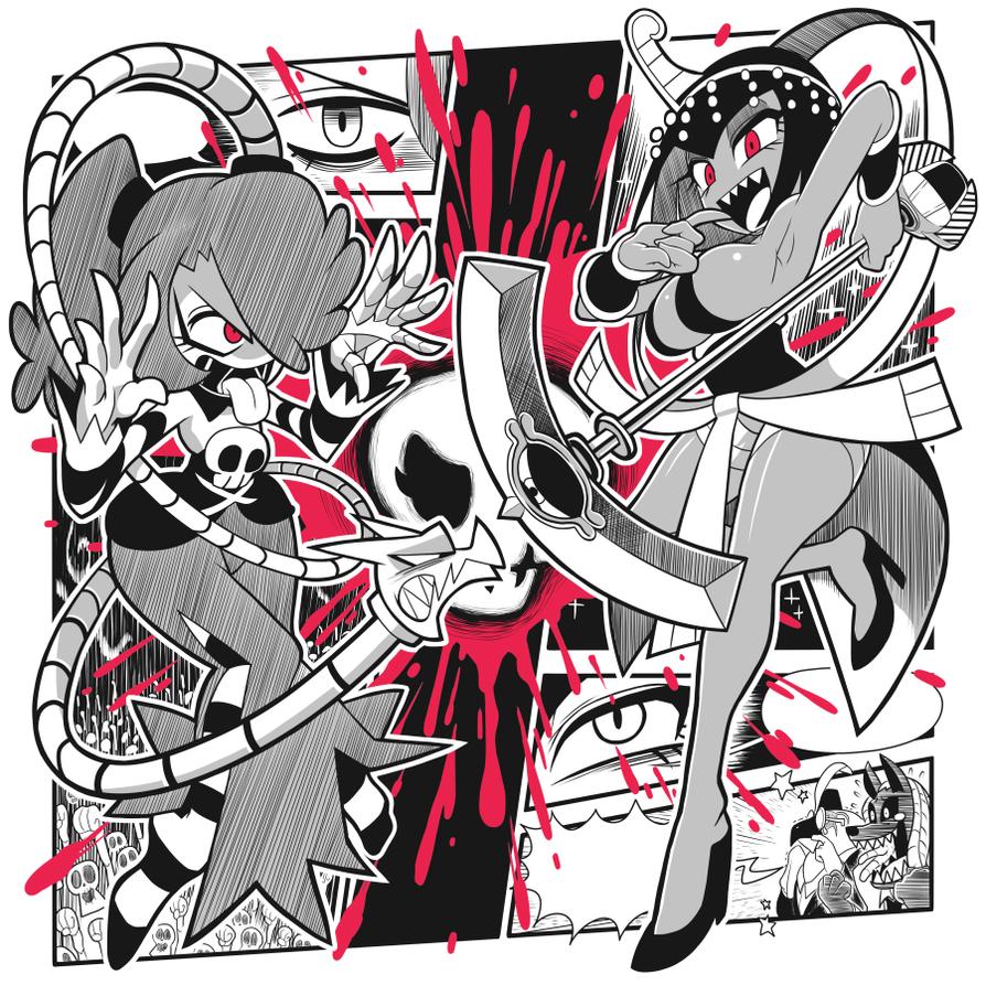 Skull Girls T-shirt design again by Gashi-gashi