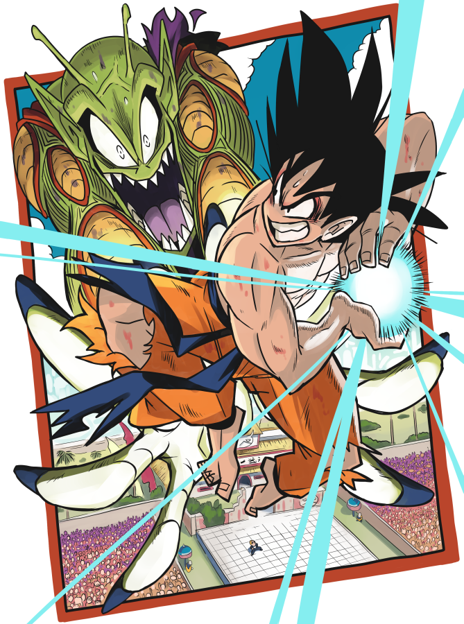 Goku vs. Piccolo by Gashi-gashi