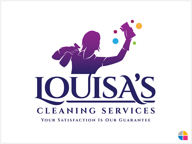 Logo Design Louisa S Cleaning Services By Teamgraphika On Deviantart