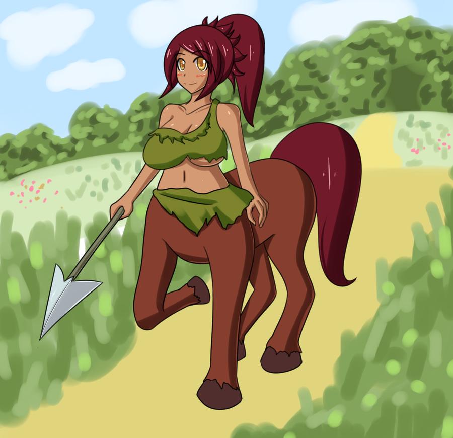 Monster Girl Challenge 2: Centaur by Jcdr