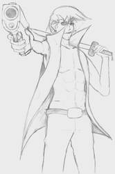 Dude with gun - WIP by RidleyofZebes