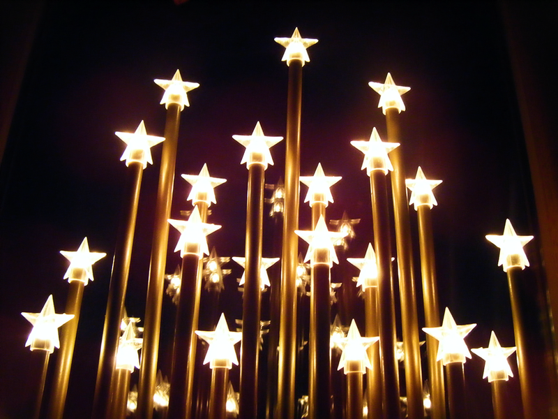 starry christmas sky by lucy redgrave - Starry Christmas