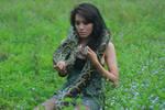 girl with snake 8