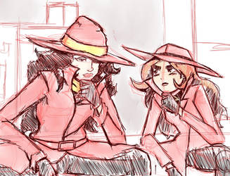 carmen sandiego sketch by InternationalDragon