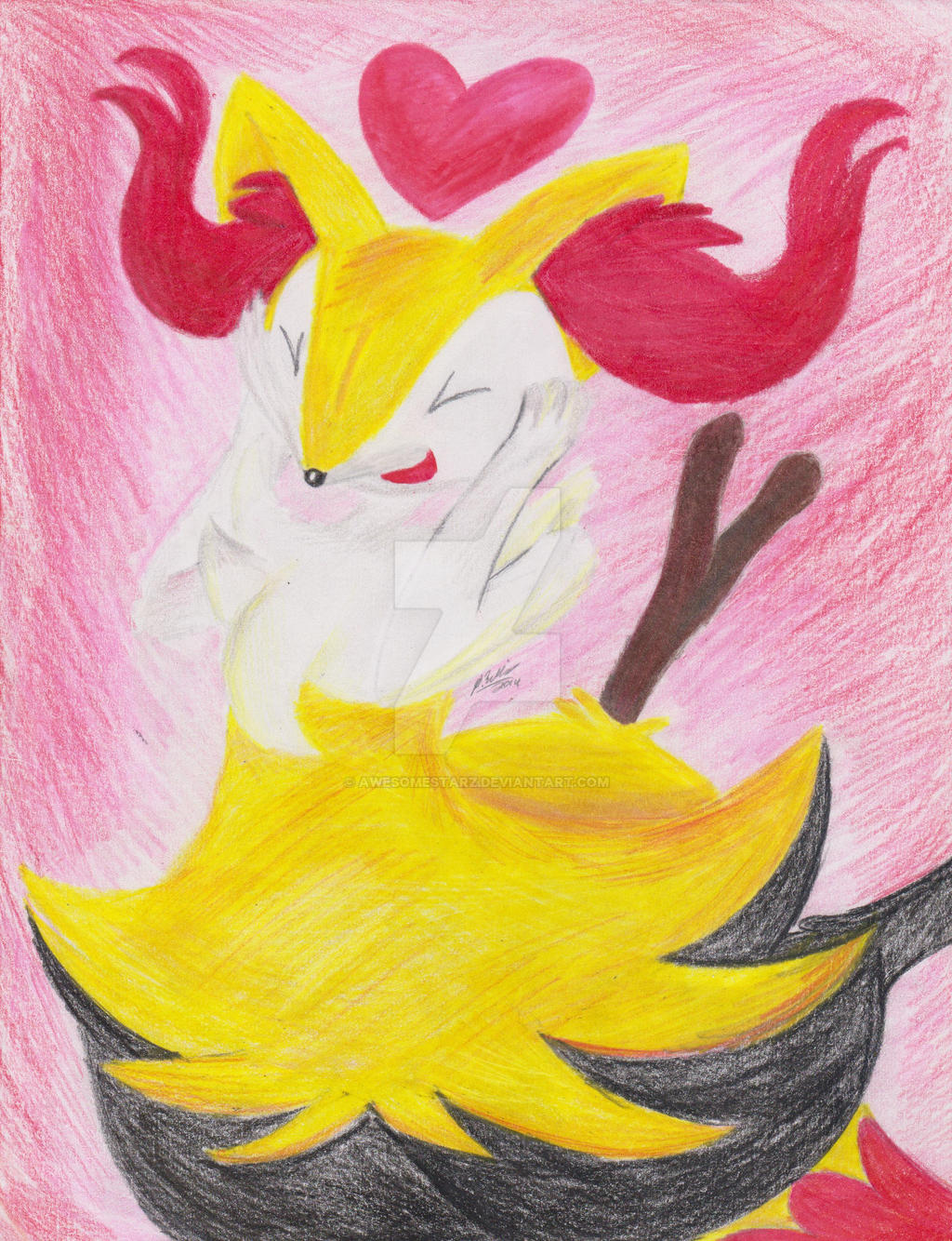 #654 Braixen (Tairenar) by awesomestarz