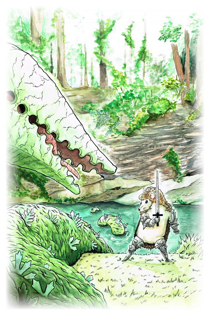 Lambton Worm vs. Hedgehog Knight by nowicantlose